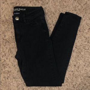 American Eagle Black High Rise Skinny Jeans